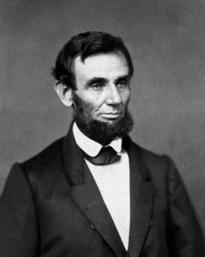 First portrait of the 16th president, Abraham Lincoln
