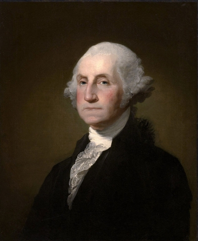 Portrait of first president, George Washington.